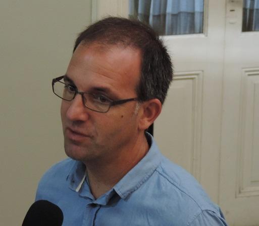 Matías Máspoli en conferencia de prensa