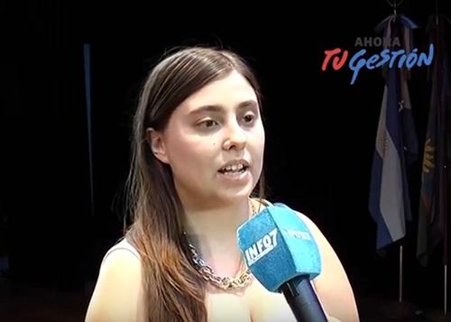 Conferencia de prensa de la directora de Juventud, Martina Alí