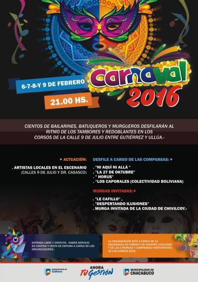 Este fin de semana comienzan los Carnavales 2016