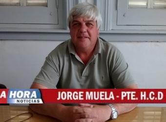 Conferencia de prensa del presidente del Honorable Concejo Deliberante, Jorge Muela