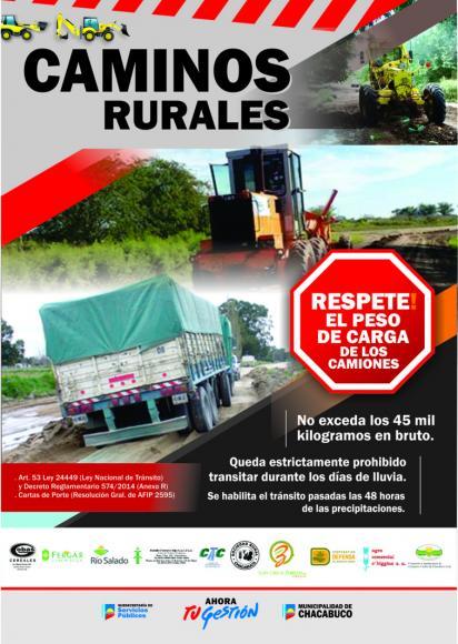 Servicios Públicos recuerda la importancia del cuidado de los caminos rurales