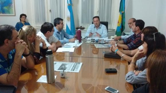 Conferencia de prensa del secretario municipal, Ariel Di Piero