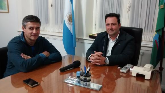 El intendente Víctor Aiola y Aldo Iglesias juntos por la gestión