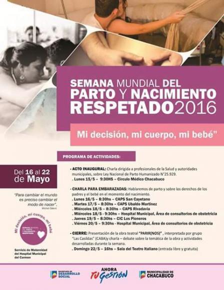 Semana Mundial del Parto y Nacimiento Respetado