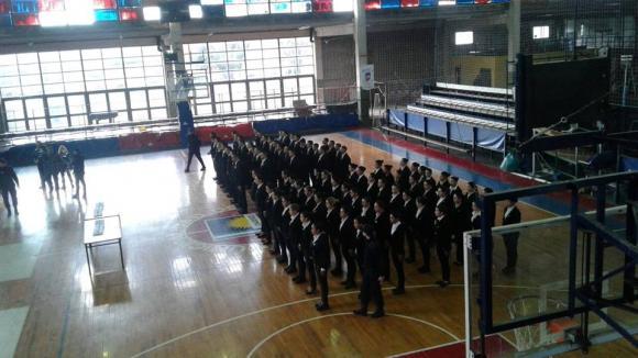 Integrantes de la Escuela de Formación de Policía Local prestaron juramento a la Bandera