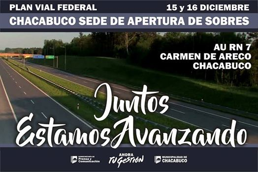 Autopista Ruta 7: Chacabuco será sede de apertura de sobres