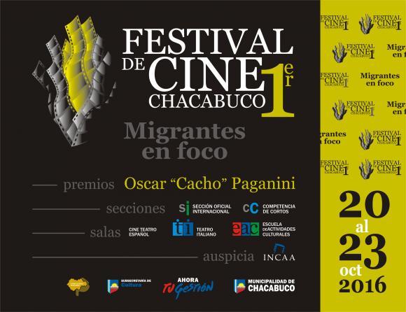 Primer Festival de Cine de Chacabuco, del 20 al 23 de octubre