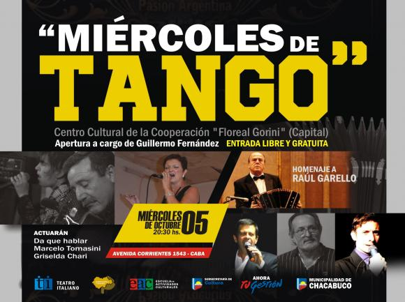 Miércoles de Tango en la avenida Corrientes: Homenaje a Raúl Garello