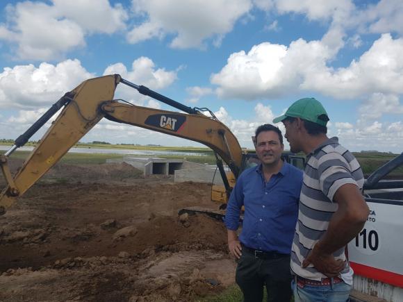 Avance de obra de la autopista Chacabuco-Junín: Víctor Aiola de recorrida