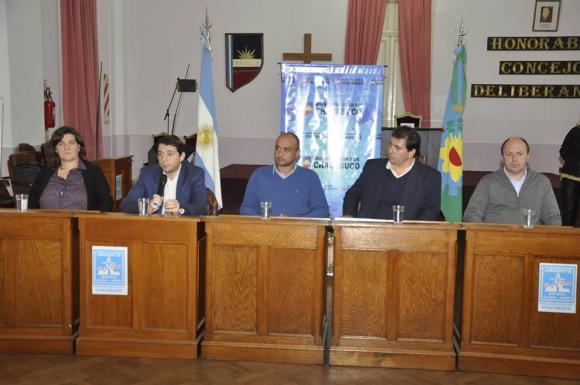 Autoridades del ministerio de Seguridad de la Nación en Chacabuco