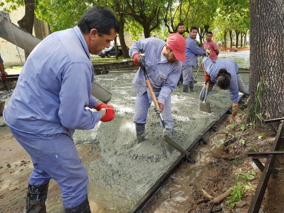 Plan Hábitat: avanzan las obras en el Parque Chacabuco