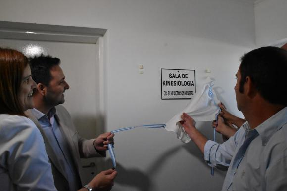 Quedó inaugurada la sala de kinesiología en Rawson