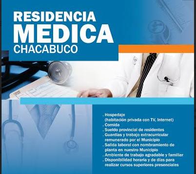 Residencia médica en Chacabuco