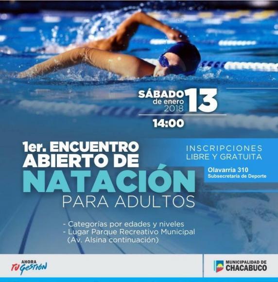 Fomentar el deporte: encuentro de natación
