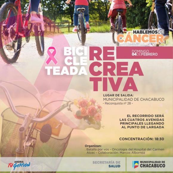 Bicicleteada Recreativa: hablemos sobre el cáncer