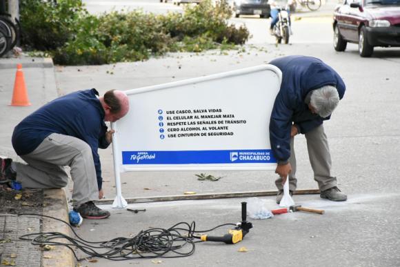 Seguridad Vial: Amplían estacionamiento para motos
