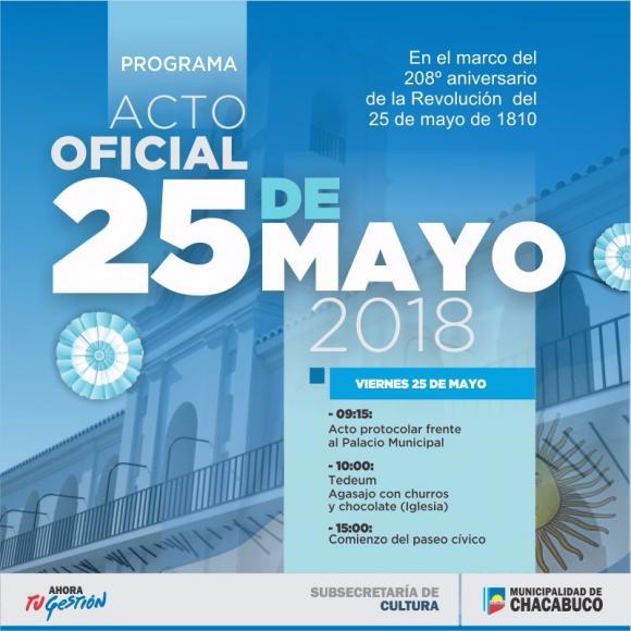 25 de Mayo: 208º Aniversario de la Revolución de Mayo