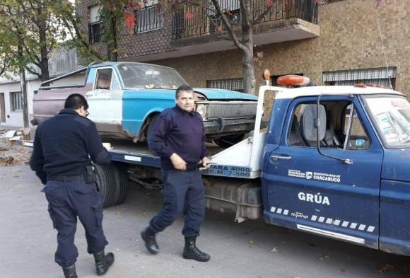 Autos abandonados según ordenanza Nº 1092/92