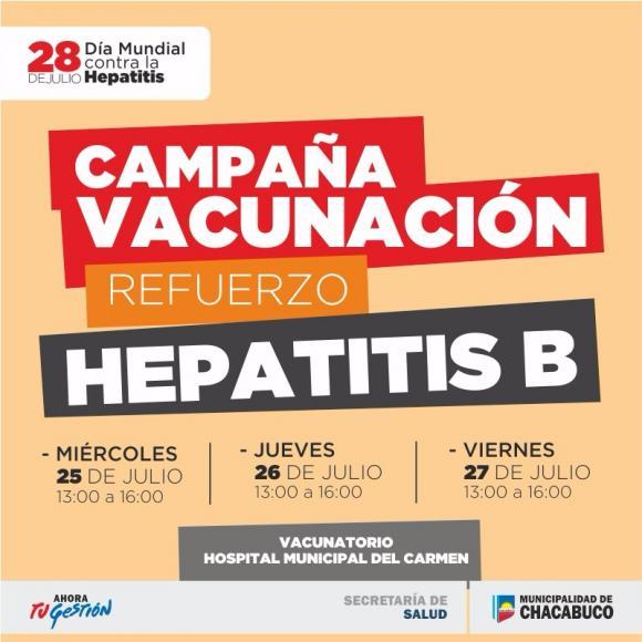 Campaña gratuita de vacunación contra la Hepatitis B