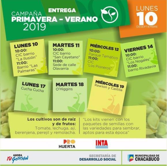INTA Chacabuco: comienza la entrega de semillas para huerta familiar