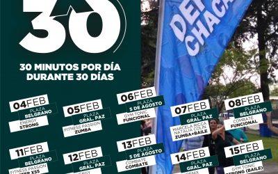 Vuelve el programa 30×30 Chacabuco se Mueve