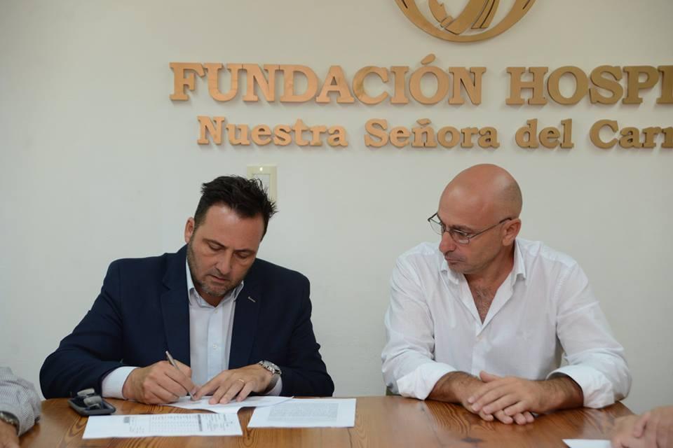Guardia Central: firma de convenio junto a la Fundación del Hospital