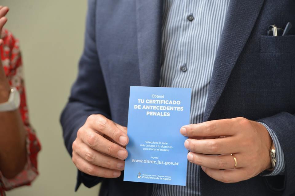 Se puso en marcha el registro de certificado de antecedentes penales en Chacabuco