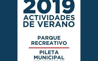 Inicia la temporada de verano 2019 con numerosas propuestas para la comunidad
