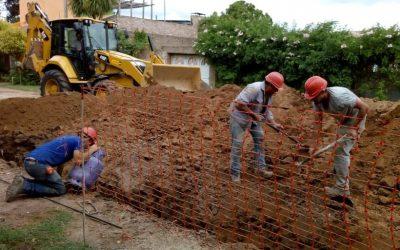 Obra de red cloacal para el barrio Alcira de la Peña