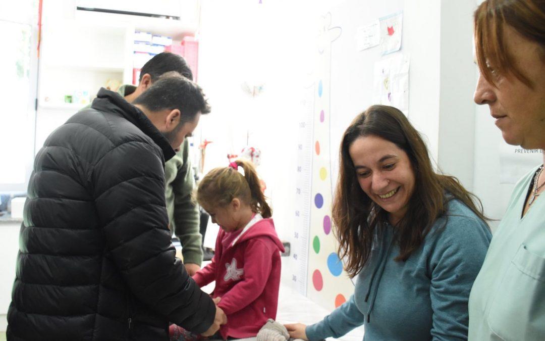 Aiola visitó el Vacunatorio Municipal
