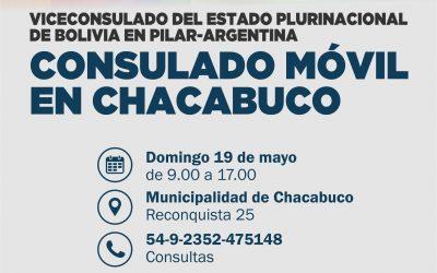 Nuevamente el Consulado Móvil Boliviano en Chacabuco