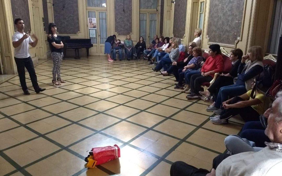 Aire de Tango: comenzó el taller para adultos mayores