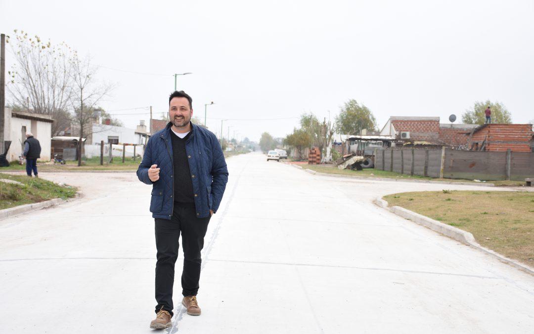 Plan de Accesibilidad a los Barrios: quedó habilitada al tránsito la calle Insiarte