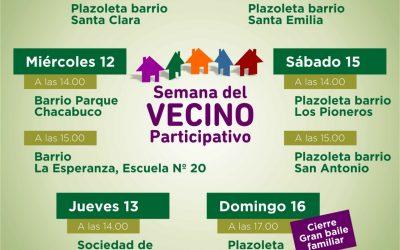 Desarrollo Social en una semana del vecino participativo