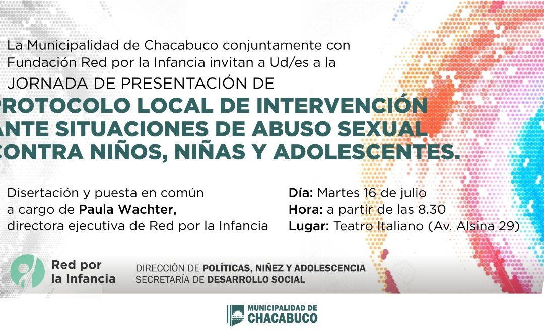 Niñez y Adolescencia: jornada de presentación de protocolo local de intervención