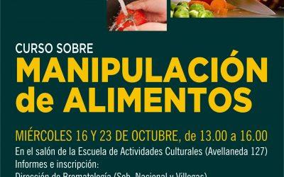 Nueva edición del Curso de Manipulación de Alimentos