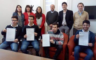 Olimpíadas: el Municipio reconoció a alumnos de la Escuela Técnica Nº 1