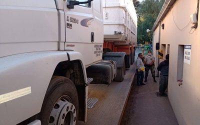 Tránsito y Patrulla Rural: control de cargas