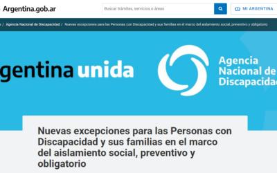Covid: Nuevas excepciones para las personas con discapacidad y sus familias