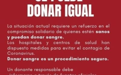 Se puede donar sangre igual