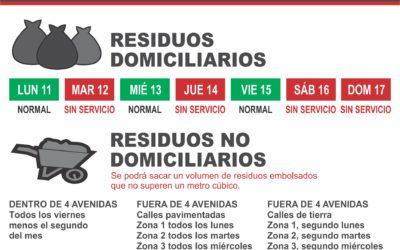 Obras y Servicios Públicos: hoy comenzó la recolección de residuos no domiciliarios
