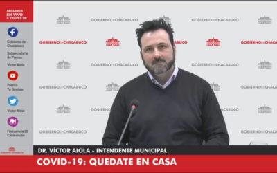 COVID-19: Medidas de flexibilización anunciadas por el Intendente Municipal