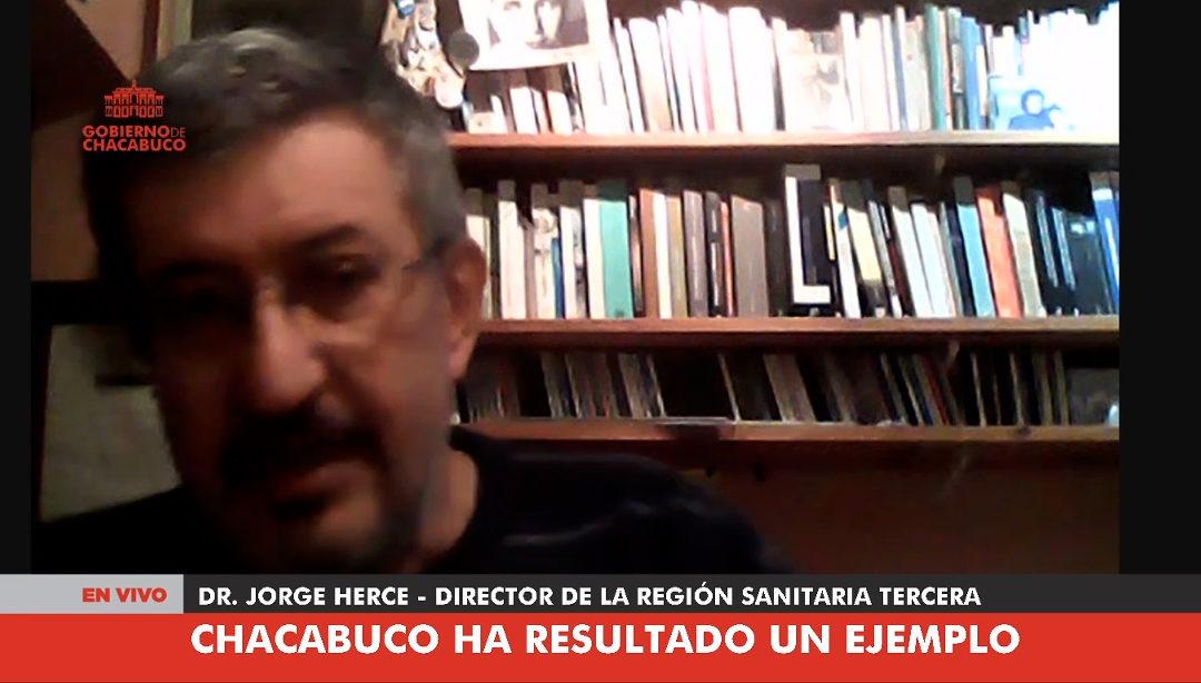 Jorge Herce: «Chacabuco para el resto de la Región Sanitaria ha resultado un ejemplo»