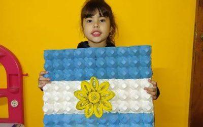 Día de la Bandera: alumnos presentaron trabajos alusivos