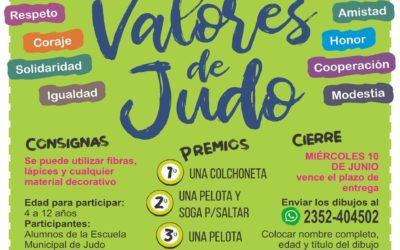 """Continúa abierto el concurso de dibujo """"Valores de Judo"""""""