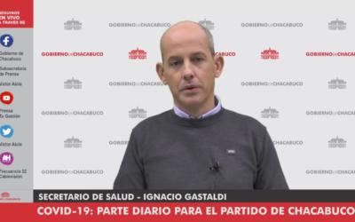 Gastaldi: «Chacabuco sigue sin nuevos casos de COVID-19