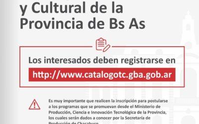 Inscribite al Catálogo TC de la Provincia