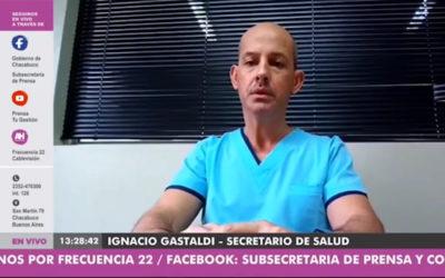 """Gastaldi: """"la única herramienta comprobada y válida para luchar contra esta enfermedad es la prevención"""""""