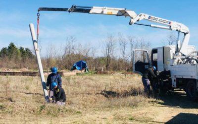 Obras Públicas: Inicio de obra de tendido eléctrico