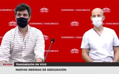Anuncio de las nuevas adecuaciones para el Partido de Chacabuco